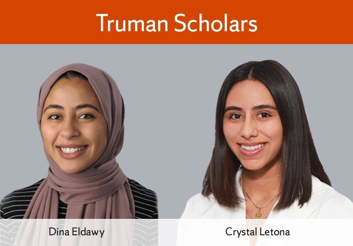 Eldawy, Letona Receive Prestigious Truman Scholarship