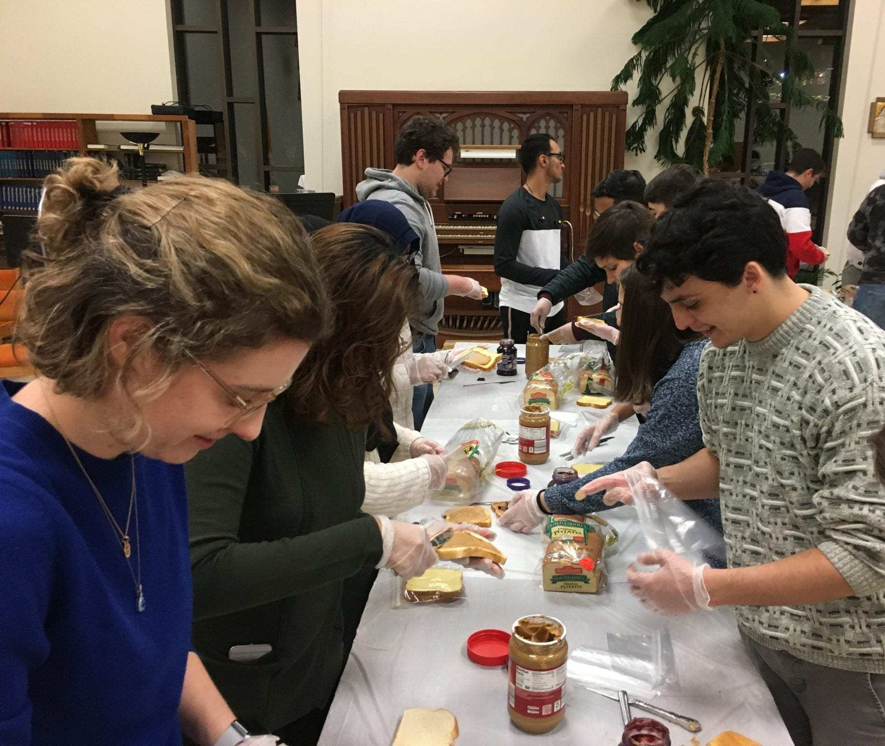 Interfaith Sandwich-Making and Reaching out to Community