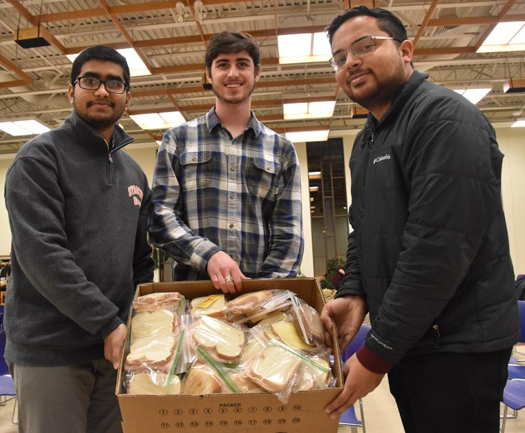 Community Service with Catholic Center and Hillel