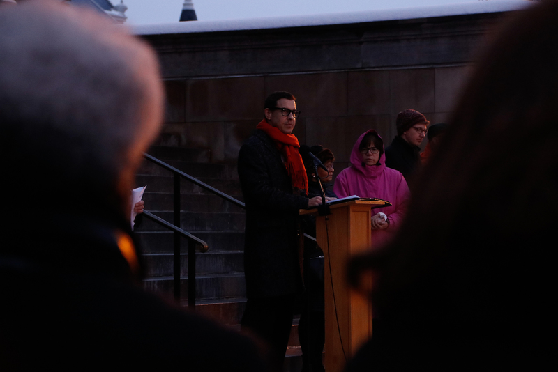 Students, community leaders condemn hate speech at Hendricks Chapel vigil